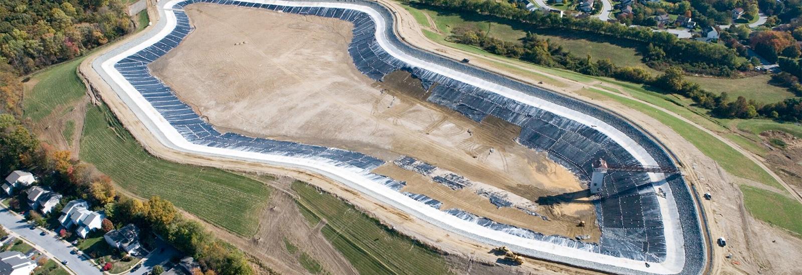 Newark Reservoir aerial