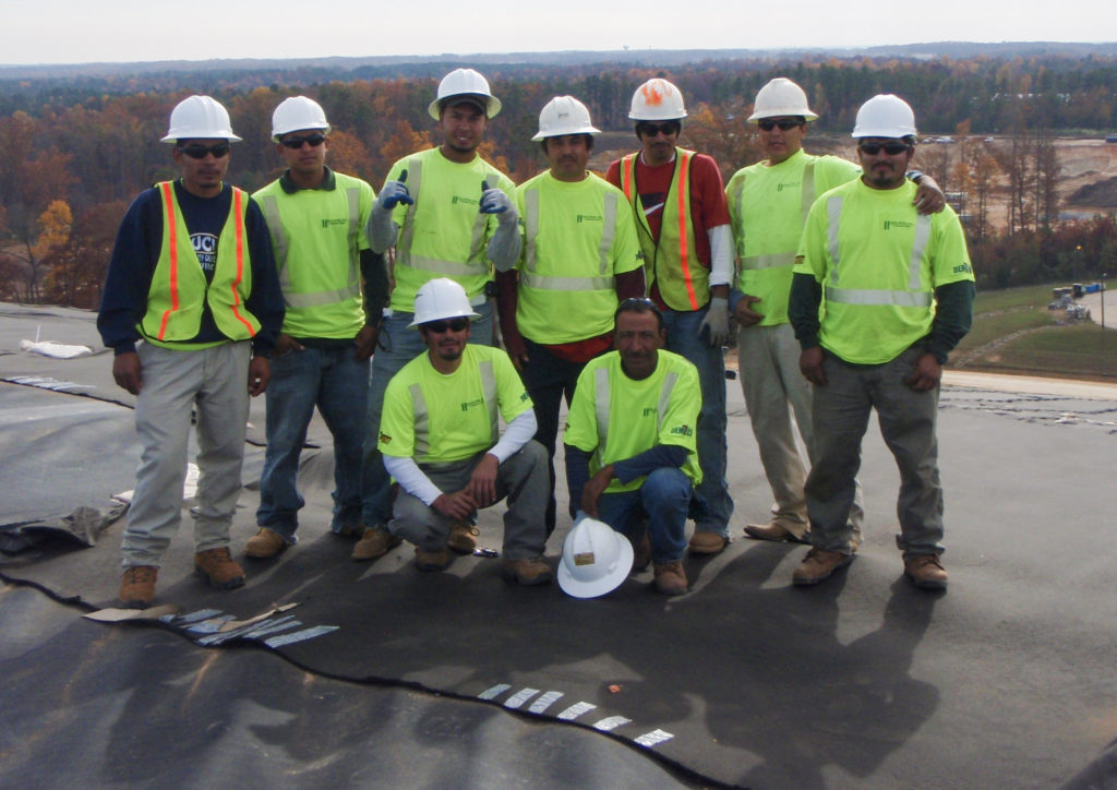 Hallaton liner crew