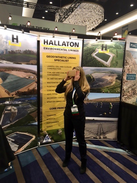 Geosynthetics 2019 Hallaton booth 360 video goggles